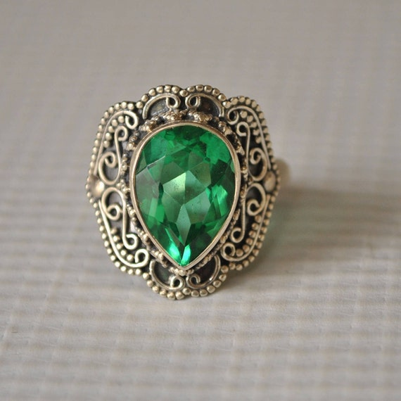 Sterling Silver Apatite Ring Sz 9  #9816