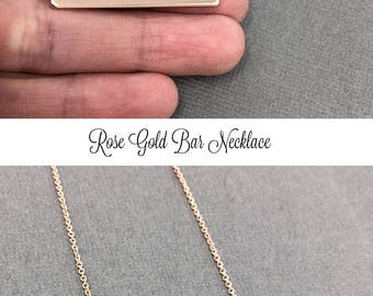 ROSE GOLD Bar Necklace, Aunt Necklace,Hand Stamped Necklace, Rose Gold Necklace, Personalized Gift, Mother's Day Gift, New Aunt Gift