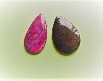 NATURAL STONE PENDANTS,Pendant Beads,Agate,Dragon's Vein Agate,Pink Dragon's Vein,Brown Dragon's Vein Agate,Genuine Stone Pendants,Jewelry