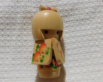 Vintage Kokeshi Wooden Doll