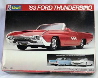 63 Ford Thunderbird 1/32 Scale Model Kit by Revell NIB