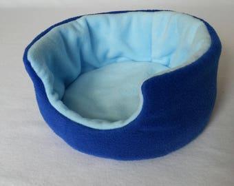 Fleece Cuddle Cup , Bed for Guinea Pig , Pygmy Hedgehog , Degu , Rat etc ( Royal Blue , Sky Blue  )
