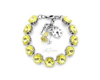 YELLOW BRICK ROAD 12mm Crystal Rivoli Bracelet Made With Swarovski Elements *Pick Your Finish *Karnas Design Studio *Free Shipping*