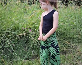 Olive Tropical Boho Pants. Summer Pants