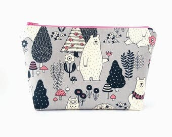 cute makeup bag. cute makeup bag, cosmetic large zipper pouch, make up bag