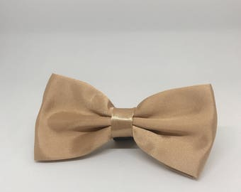 Rose Gold Bowtie for Wedding Dog Outfit Pet Wedding Gray Bow Tie Dog Collar