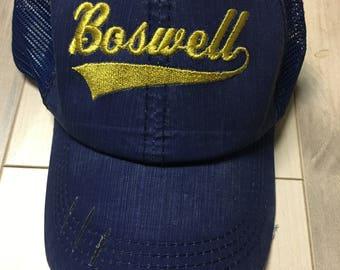 Team Sports Hat, Mascot Hat, Baseball hat, Trucker hat, Embroidered hat, Custom Hat, School spirit
