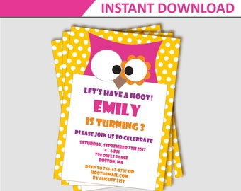 owl birthday invitation owl party invitation owl invitation owl birthday party invitation - Basketball Party Invitations