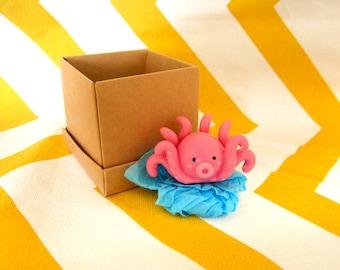 Homemade Pink or Blue Octopus Figure - Kawaii - Sea - Creature - Ocean - Ornament