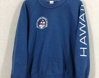 Vintage 1980 West Maui Hawaii Yacht Club Crazy Shirt Sweatshirt Sz Large