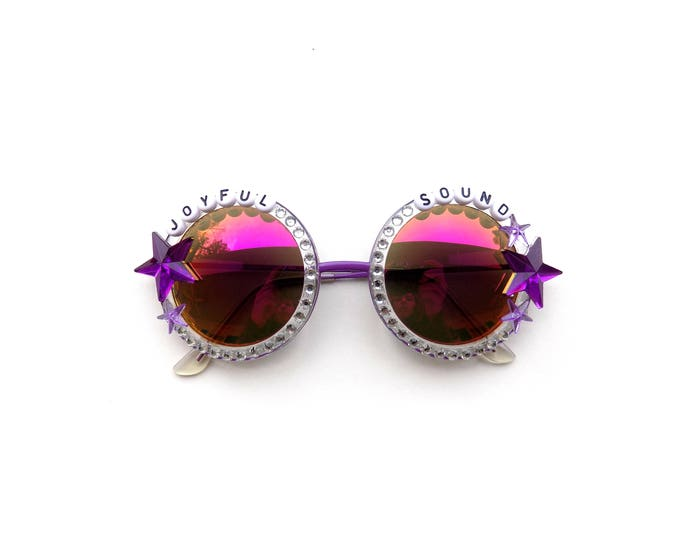 """String Cheese Incident """"Joyful Sound"""" decorated sunglasses, groovy festival shades inspired by SCI perfect for Hulaween"""