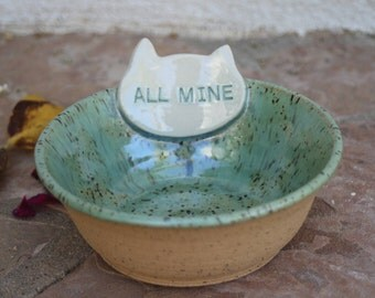 Cat Bowl handmade ceramic cat food dish modern pet dish cats food bowl pottery cat feeding bowl animal gifts for cats gift for cat lover