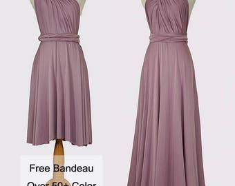 Retro Purple Infinity Dress Convertible Formal,wrap dress ,bridesmaid dress,party dress Evening dress C53#B53#