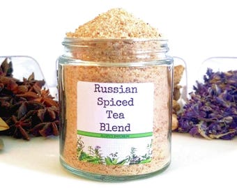 Russian Spiced Tea Blend European Asian Hot Beverage Spice Mix Foodie Chef Cooking Gift