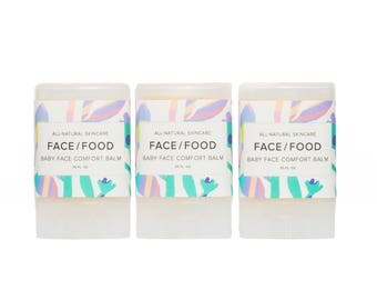 Baby Face Comfort Balm/VEGAN lip/face balm for babies & kids/all natural baby balm/healing salve/chamomile/calendula/coconut oil balm