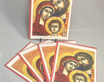 "5 Blank cards 5"" X 7"" with envelopes - ""The Holy Family"""