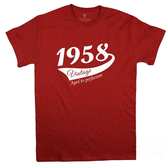 60th Birthday Gift For Man, 1958 Vintage T-shirt, More colors available S-2XL