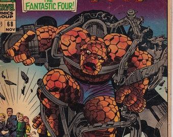 Fantastic Four #68 (1961 1st Series) - November 1967- Marvel Comics - Grade VG