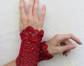 READY TO SHIP Wrist Warmers in cotton/viscose, Bridal, Christmas Party, New Year's Eve, ready made or made to order in any colour