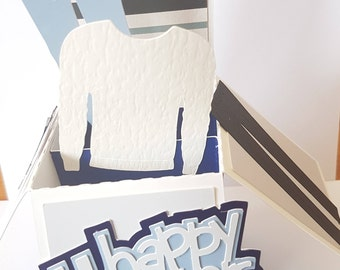 Personalised Handmade 3D Pop-Up # Father's Day Card