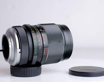 Minolta MC/MD Mount Vivitar Auto Telephoto 135mm F/2.8 for Minolta SLRs - Tele Photo Prime Lens with Caps