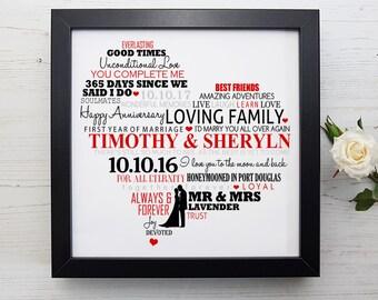 1st wedding anniversary gift - 1st anniversary, 1st anniversary gift, first wedding anniversary, 1 year anniversary gift,