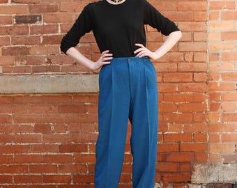 High Waisted Pleated Vintage 1980s Zazu Emporium NOS Mens Trousers