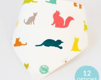 Gifts for Baby, Choose From 12 Farm Theme Bandana Bib, Organic Baby Teething Bib, Gender Neutral Bib, Horse Cat Kitten Dog Puppy Chicken Cow