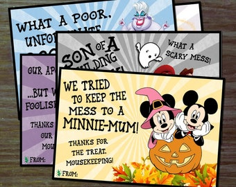DIY Mousekeeping Envelopes { or 5x7 notes } DIY Mousekeeping Disney Vacation Tips Cards Notes Halloween Fall Mickeys Not So Scary Haunted