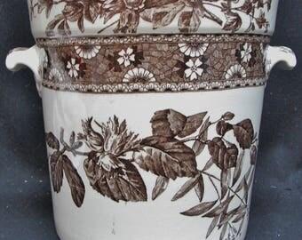T. FURNIVAL & SONS Brown Hazel 8 Quart Sop Pot Jar with Lid