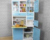original vintage retro kitchenette larder cabinet cupboard very good restored condition 1950s 1960s