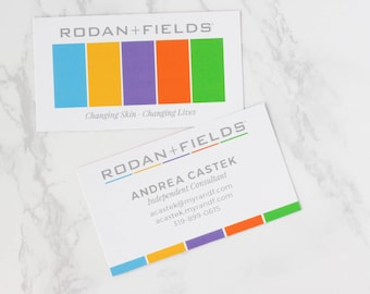 Rodan and Fields Business Card, Personalized Business Card, Rodan + Fields, Printable File, Rodan and Fields Independent Consultant Card
