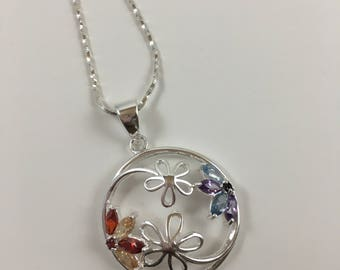 Circle of Flowers Pendant