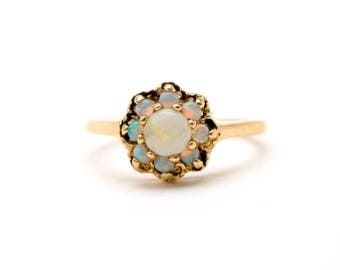 10k Opal Cluster Ring
