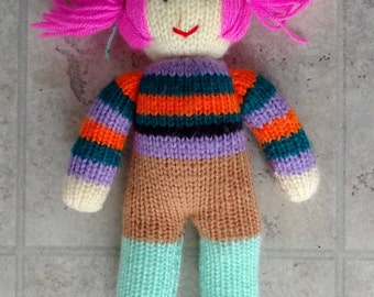 Hand Knitted 12'' Doll