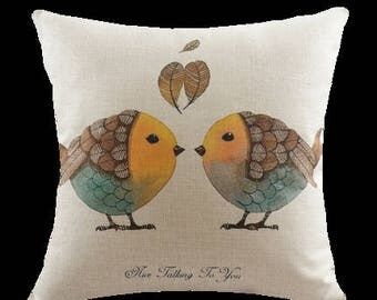 Decorative pillow, cushion cover the yellow bird throw pillow shell customized size