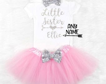 little sister outfit baby sister outfit new sister outfit personalized little sister outfit new baby sister outfit little sister coming home