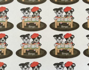 Planner stickers, Bear,  Bingo night, fits Erin Condren, Happy planners and most all planners/calendars