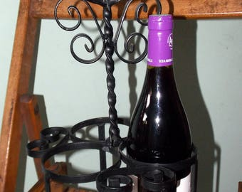 Vintage metal bottle carrier,holder. Great for your Home Bar
