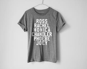 Ross Rachel Monica Chandler Phoebe Joey Shirt | Friends Shirt | Friends TV Shirt | Netflix Shirt