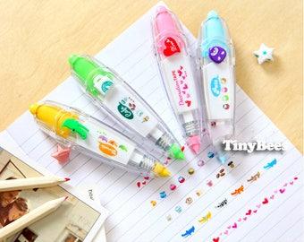 Cute Decoration Tape - Crocodile / Heart (1 pc) Korean Stationery Diary Deco Stickers Planner
