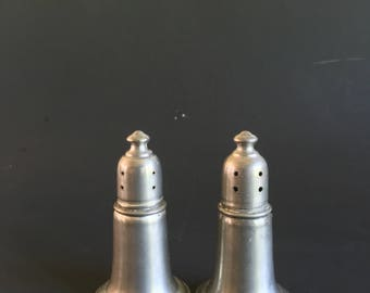 Empire Pewter Glass Weighted Salt and Pepper Shakers