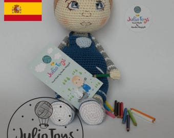 Julio - crochet boy - PDF pattern
