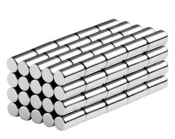 1/8 x 1/4 Inch (3.17 x 6.35 mm) Neodymium Rare Earth Cylinder/Rod Magnets N42 (100 Pack)