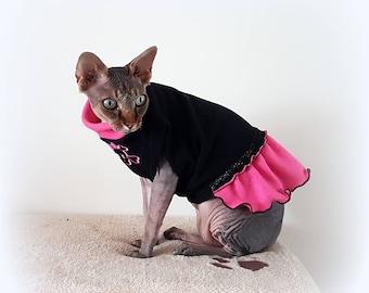 SKULL DRESS, clothes for a Sphynx cat, Sphynx cat clothes, HOTSPHYNX, cat outfit, cat dress