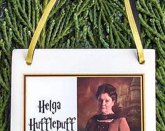 Harry Potter Christmas Ornament: Helga Hufflepuff Square Ceramic Ornament