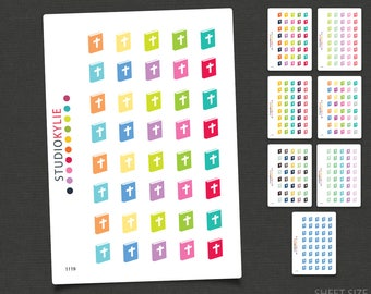 Bible Icons - Planner Stickers - Repositionable Matte Vinyl