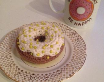 Donut / doughnut pincushion handmade crochet amigurumi CHOOSE YOUR COLOUR