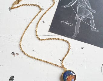 Galaxy Necklace // Spiral Galaxy // Galaxy Jewellery // Space Necklace // Space Jewellery