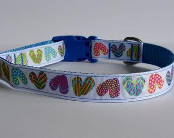 Flip Flop Beach Dog Collar - Ice Blue - Ready to Ship!